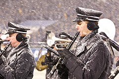 Soldiers Clarinets Snow